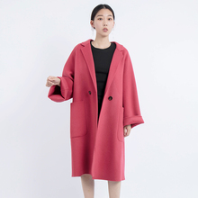 abrigos mujer invierno 2019 wool winter coat women korean ladies casacos feminino long woolen plus size jacket loose coats