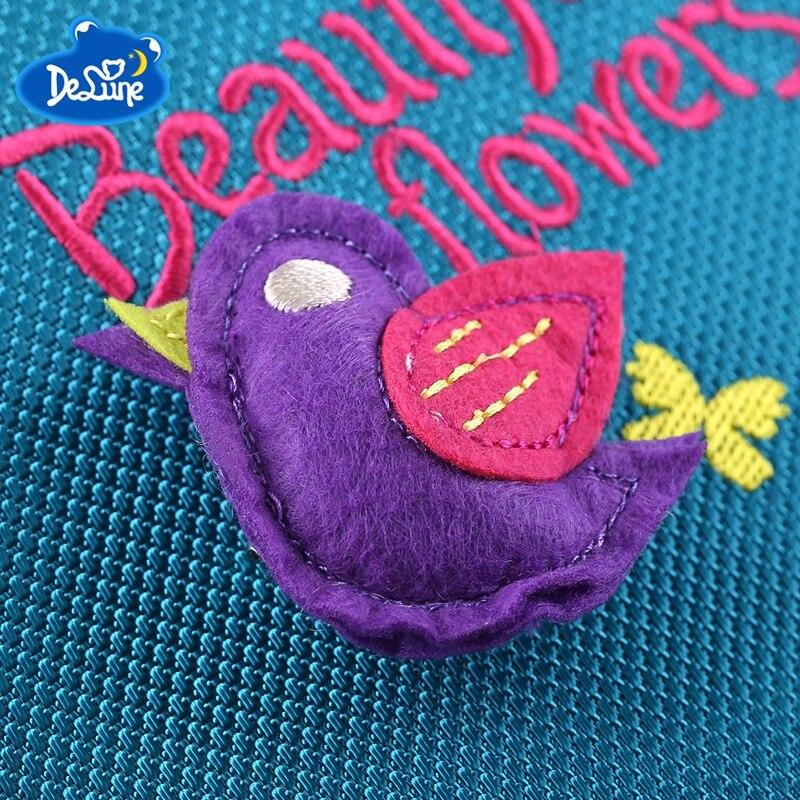 Delune Orthopedic Schoolbag Girl Backpacks for School Kids Rucksack Children Cartoon Bag Butterfly Bear Knapsack Mochila Escolar