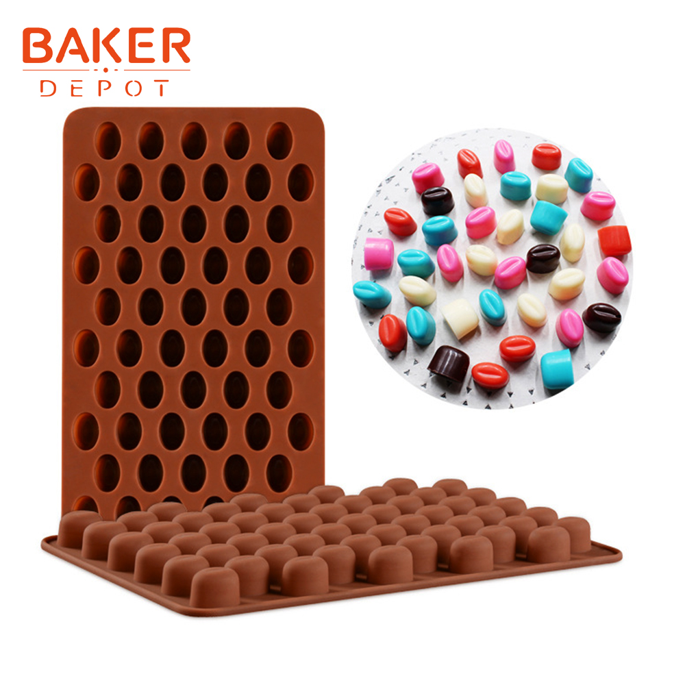 <font><b>BAKER</b></font> <font><b>DEPOT</b></font> silicone mold for chocolate mini coffee bean candy gummy fonfant form jelly Pudding mold cake pastry decoration tool image