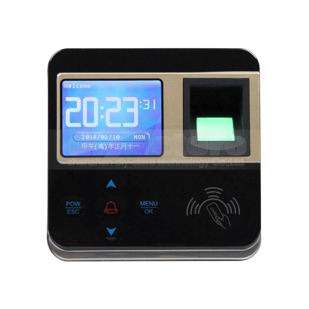 DIYKIT Fingerprint And RFID Time Clock And Access Control With TCP/IP + Color Screen 500 templates 30 000 transaction capacity f6 fingerprint access control with 125khz rfid card and fingerprint time attendance