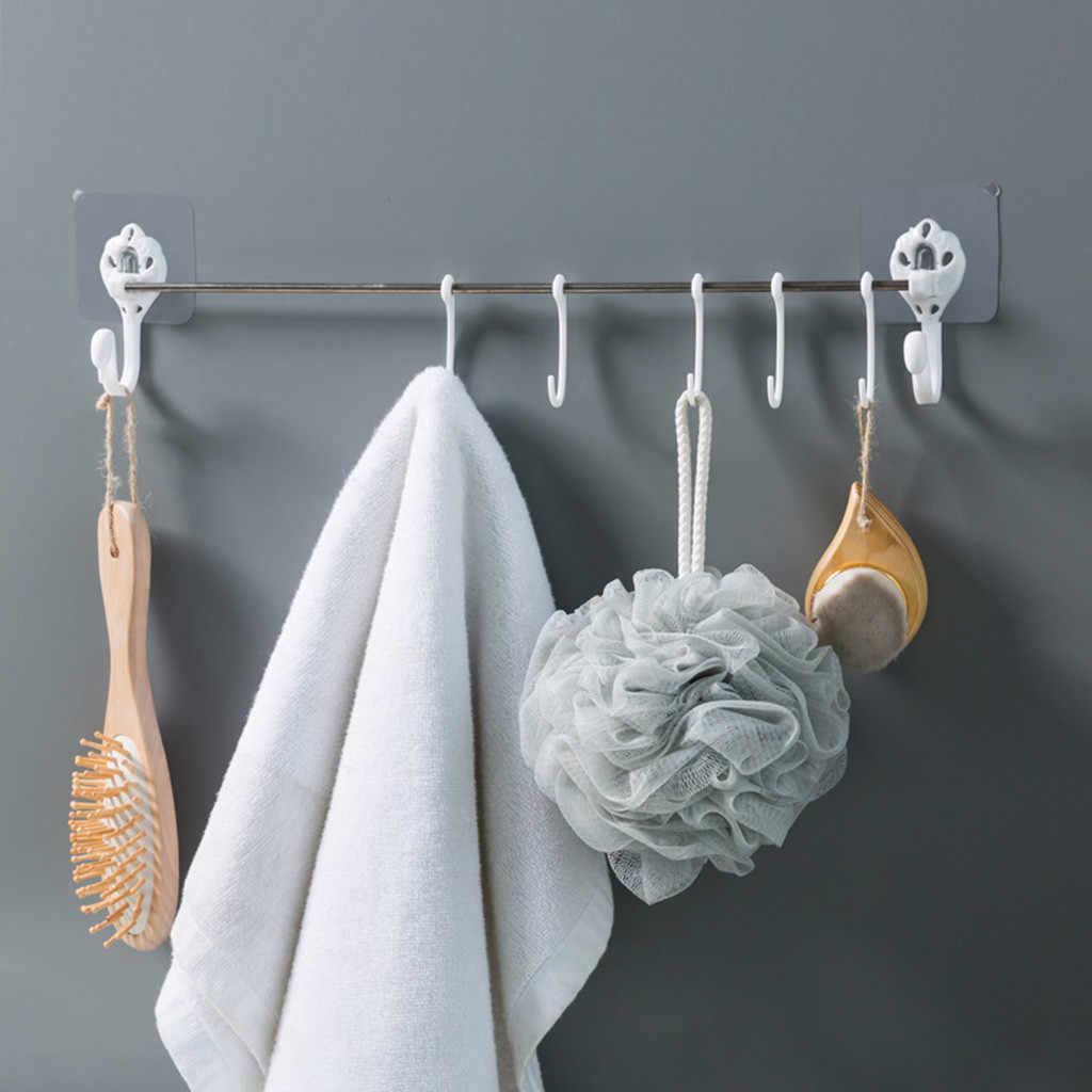 New Kitchen Utensils Rack Holder Ceiling Wall Cabinet Hanging Rod Storage Organizer Storage Rack Kitchen Bathroom Organizer
