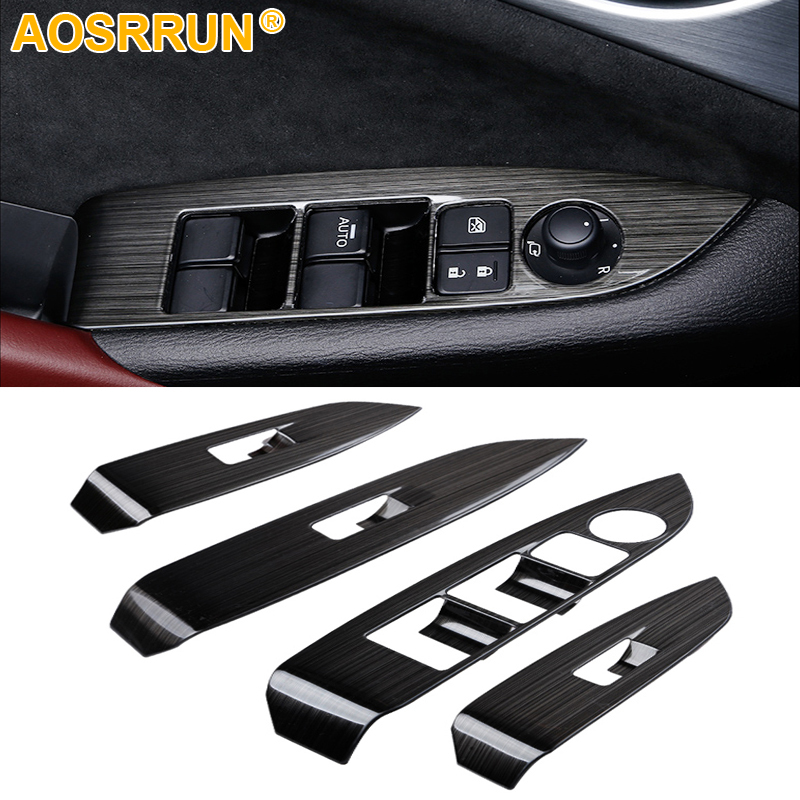 car-styling Glass Window switch decoration panel Car Accessories For Mazda CX-3 CX3 2016 2017 2018 for mazda cx 5 cx5 2nd gen 2017 2018 interior custom car styling waterproof full set trunk cargo liner mats tray protector