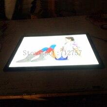 A2 магнитный Алюминий рамка тонкий лайтбокс ультра тонкий плакат с подсветкой световой короб с рамкой