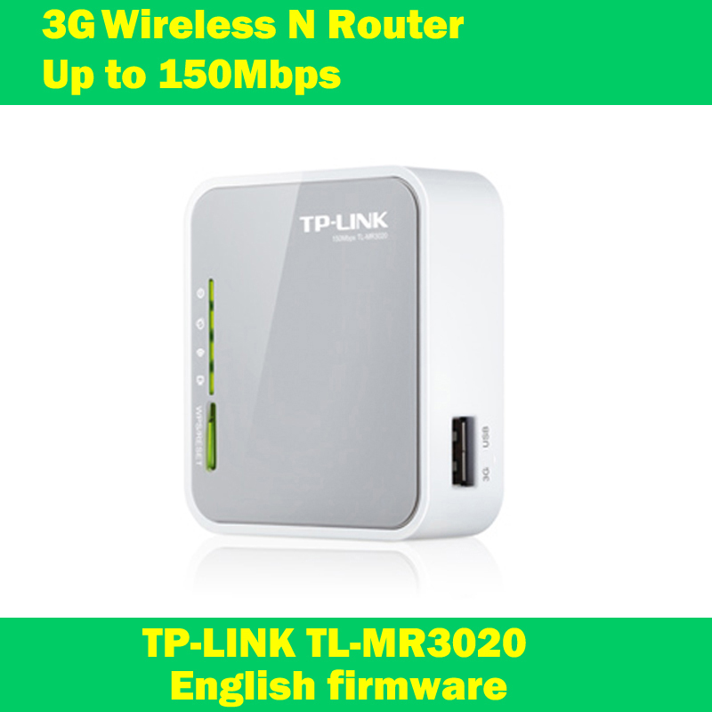 NEW TP-LINK TL-MR3020 150Mbps Portable 3G/4G wireless wifi repeater router with USB powered English firmware