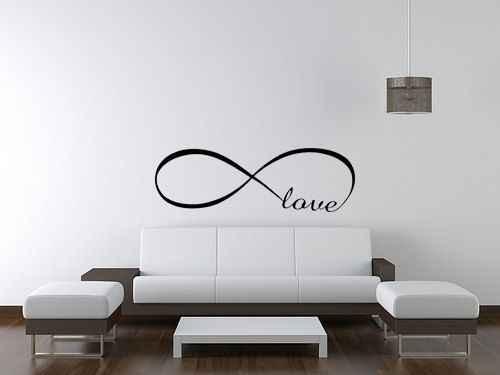 Wysokiej jakości wymienny DIY duży Symbol nieskończoności cytat miłosny Home Decor naklejka ścienna do pokoju Vinyl Art New Fashion