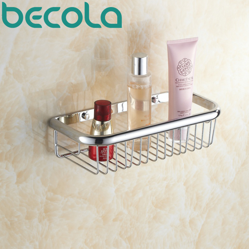 Free shipping BECOLA Bathroom shelf basket Shampoo holder Chrome ...