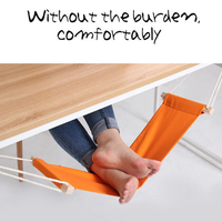 Portable Office Foot Hammock Mini Feet Rest Stand Desk Footrest Hangmat Study Table Hang Leisure Hanging