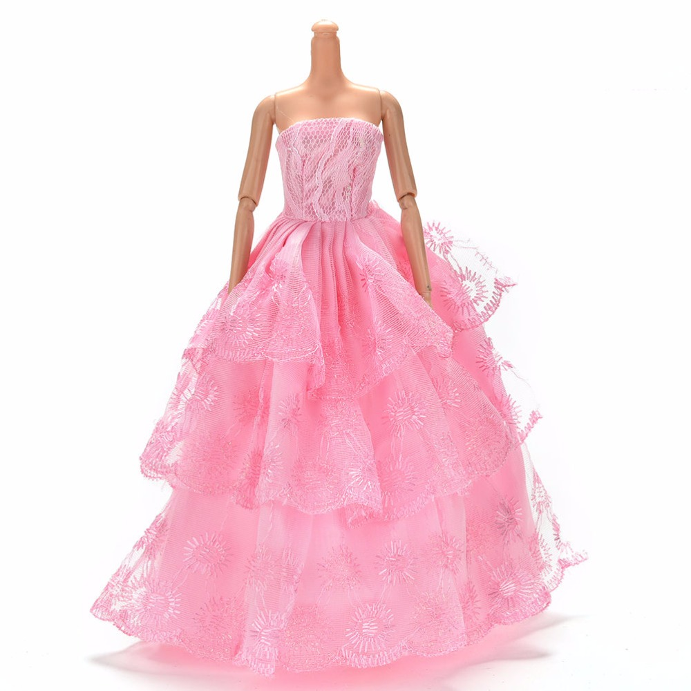 ALI shop ...  ... 33040439349 ... 3 ... Colorful Elegant Handmade Summer Bridal Gown Princess Dress Clothes Wedding Party Dress For Barbie Doll Acessories ...