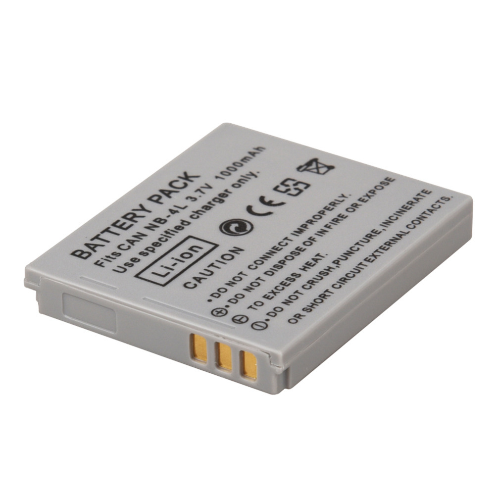 1000mAh NB-4L NB4L NB 4L Li Battery for Canon IXUS 30 40 50 55 60 65 80 100 I20 For Canon PowerShot SD1000 1100 Camera Battery ismart replacement nb 5l 3 7v 1200mah battery for canon powershot sx230hs sx210is more page 1