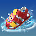 summer newborn baby genuine leather sandals first walkers girl boys cow muscle sole infant kids cartoon prewalker shoes FC112