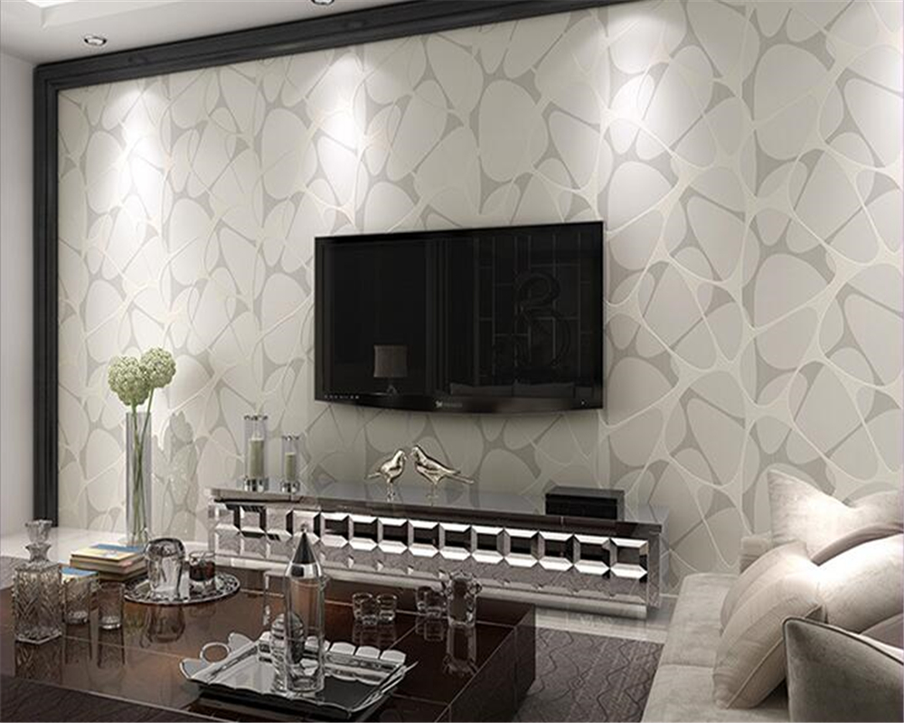 beibehang Environmental non - woven wallpaper modern simple pearl inlaid silver TV background wall 3d wallpaper papel de parede beibehang 3d wallpaper cartoon environmental non woven wallpaper wall paper children s bedroom background papel de parede