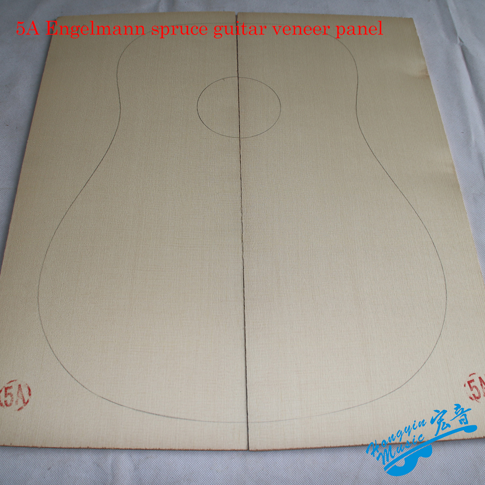 3A 5A Engelmann Spruce Wood Guitar Panel Veneer For Classical Acoustic Folk Guitar Making Material Guitar