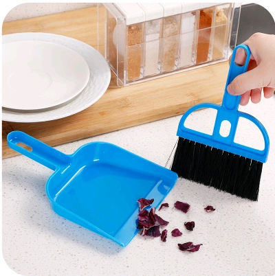 Mini clean storage consolidation desktop small suit broom small broom set cleaning brush keyboard brush