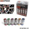 EPMAN -AUTHENTIC EPMAN ACORN RIM Racing Lug Wheel Nuts Screw 20 X 1.25 20PCS CAR For Toyota  EP-NU7000-1.25