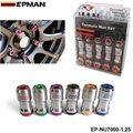 Epman-epman auténtico acorn rim racing tuercas de la rueda tornillo 20x1.25 20 unids coche para toyota ep-nu7000-1.25
