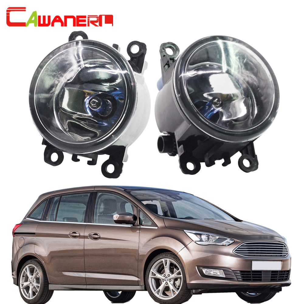 Cawanerl For Ford Grand C-Max MPV 2010-2015 100W H11 Car Accessories Halogen Fog Light Daytime Running Lamp DRL 12V 1 Pair cawanerl 2 x car led fog light drl daytime running lamp accessories for nissan note e11 mpv 2006