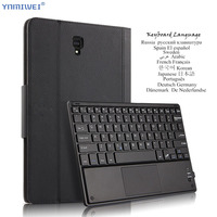 Case For Samsung Galaxy Tab S4 10.5 SM T830 T835 T837 Bluetooth Keyboard Protective Cover PU Leather Tablet PC Case Multilingual
