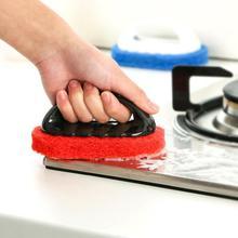 Кухонная Чистящая ванная, туалет, кухня стеклянная настенная щетка для очистки ванной пластиковой ручкой Губка для ванной