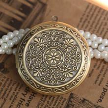 2 шт оптовая продажа античная бронза Круглый винтажный цветочный