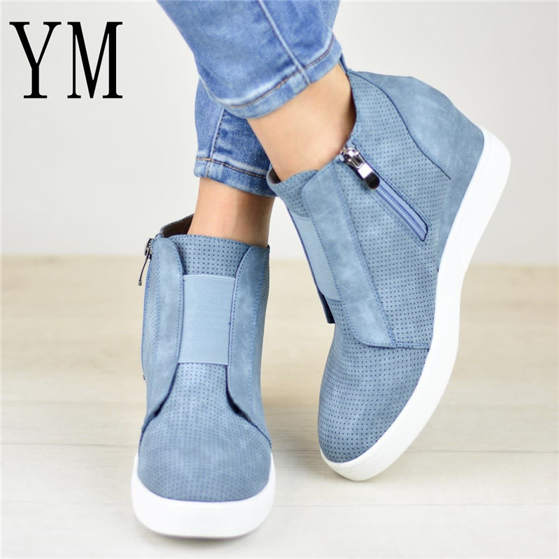 Plus43 Women Boots Colour Mixture Fashion Round Toe Ankle Boots Zip Lady Winter Boot Woman Shoes Black Brown Blue Sneakers Women women boots plus size 34 43 fashion round toe ankle boots zip lady winter boot woman shoes black brown blue sneakers women n229