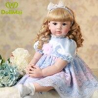 60cm 24inch reborn silicone princess toddler doll vinyl newborn baby doll npk Toys girls lifelike collectible doll play house