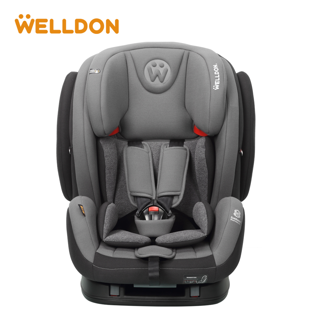 Welldon baby car seat Flame retardant fabric Head protection IOSfix interface Suitable for children aged 9 Months - 12 Years ...