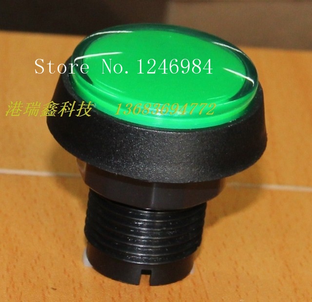 [SA]Video game consoles accessories round button green button hypotenuse mainframe computer switch button--20pcs/lot