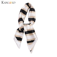 KANCOOLD Scarf women Elegant Head Neck Hair Tie Silk Satin Scarf Shawl Wrap Kerchief high quality Chiffon Scarf Women 2018Nov22(China)