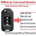 Бесплатная доставка (1 шт.) nb10 Универсальный многофункциональный KD дистанционного 3 кнопки NB серии ключ для KD900 urg200 Remote Master