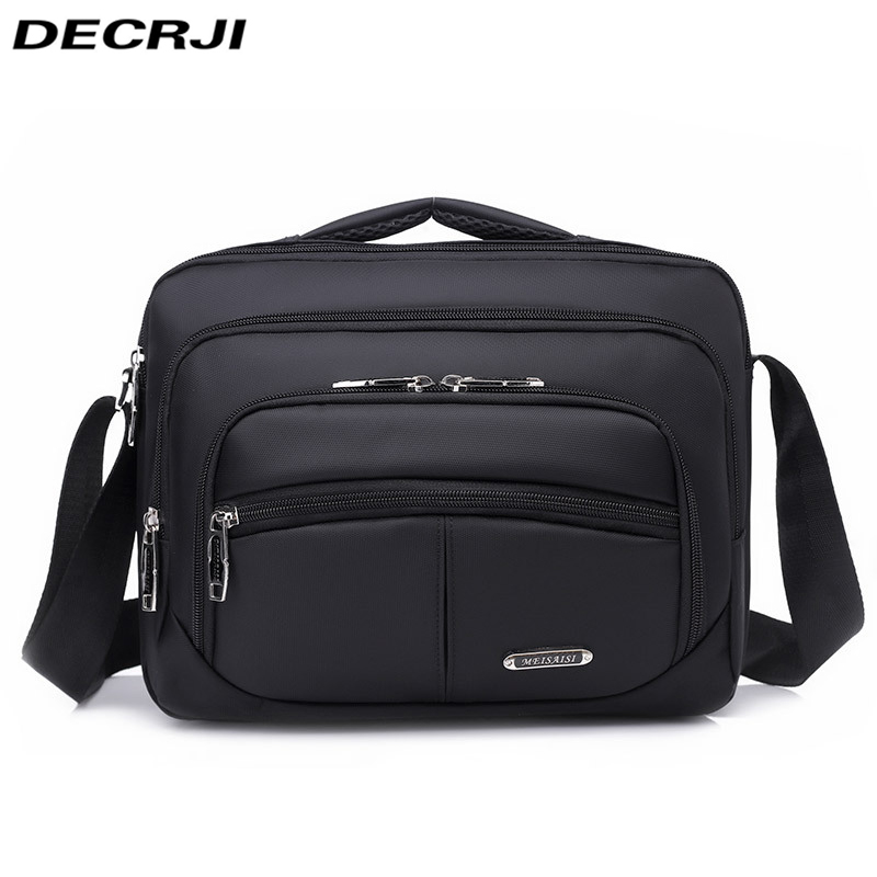 DECRJI Crossbody-Bag Shoulder-Messenger-Bags Oxford Business Multifunctional Large-Capacity