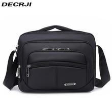 DECRJI Mens Fashion Oxford Crossbody Bag Multifunctional Male Shoulder Messenger Bags Large Capacity Business Bolsa Masculina