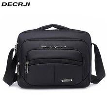 Decrji男性のファッションオックスフォードクロスボディバッグ多機能男性ショルダーメッセンジャーバッグ大容量ビジネスボルサmasculina