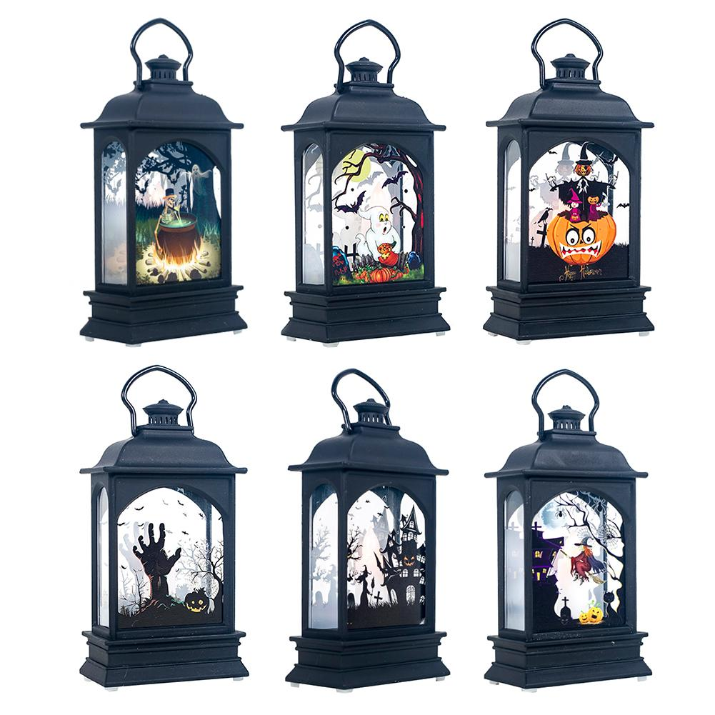 Top Halloween Vintage Pumpkin Castle Light Lamp Party Hanging Decor LED Lantern