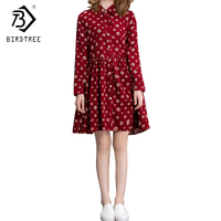 Students Basic Corduroy Long Sleeves Monkey Print Women Dresses Vintage Winter Fall Turn Down Collar Dresses