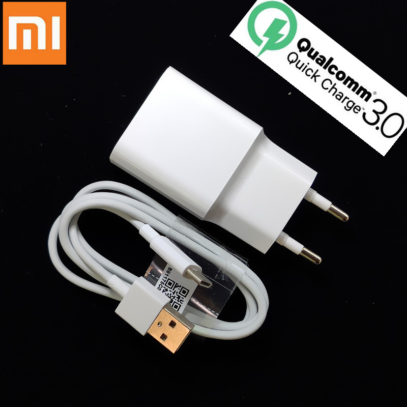 Original Xiaomi Mi 9 Fast Charger Qc 4.0 27w Usb Wall Quick Charge Adapter Usb 3.1 Data Cable For Mi9 Se Mi 8 7 F1 Mix 2 2s 3 Mobile Phone Accessories Mobile Phone Chargers