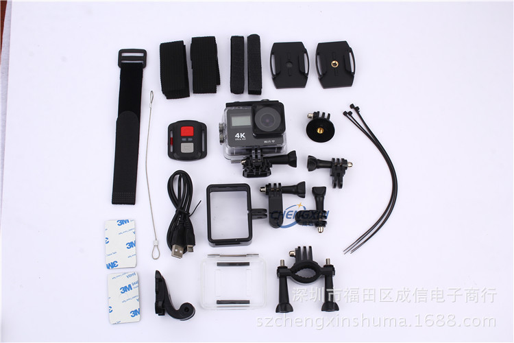 Action camera F65R Ultra HD 4k WiFi 1080p/60fps with 2.0 LCD 170D Accesories