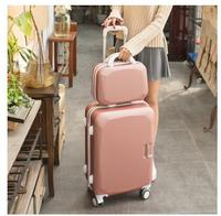 ABS PC Women 20 24 26 Inch Travel Luggage Trolley Suitcase Cosmetic Suitcase Rolling Case On
