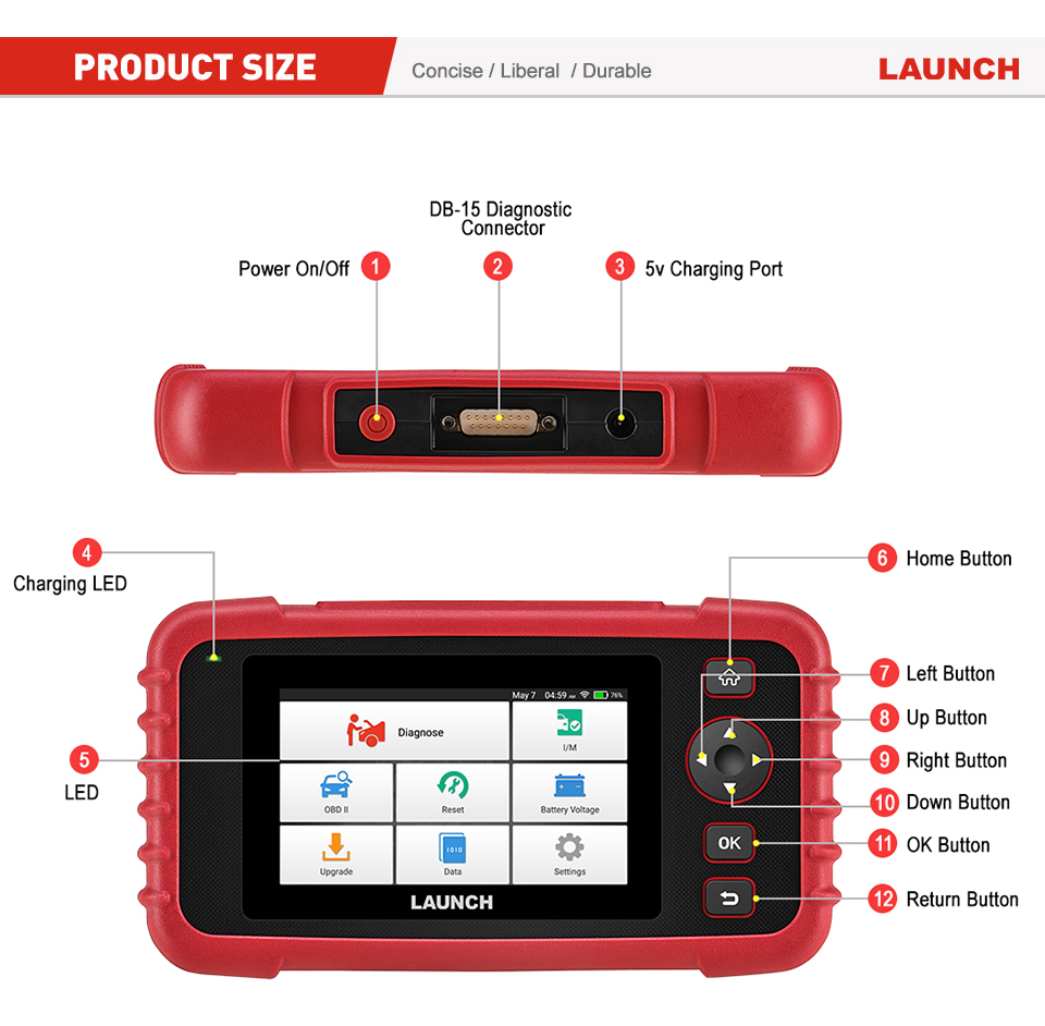 Image 3 - Launch CRP129 X431 CRP129X Creader VIII 8 Code Reader OBDII Diagnostic Tool OBD2 Scanner ENG AT ABS SRS EPB SAS OIL Service EOBD