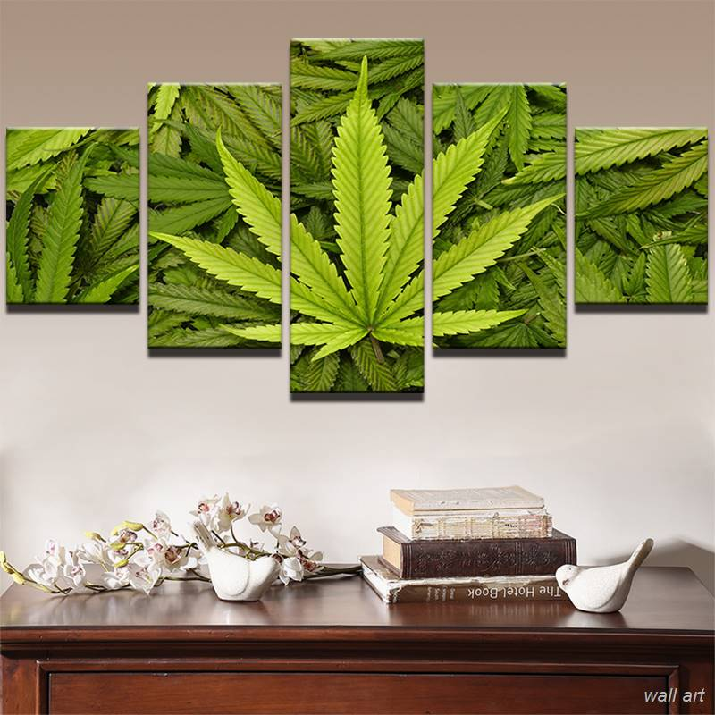 ᗔModern Canvas Wall Art Poster Frame Green Life Home Decor Photo 5 ...