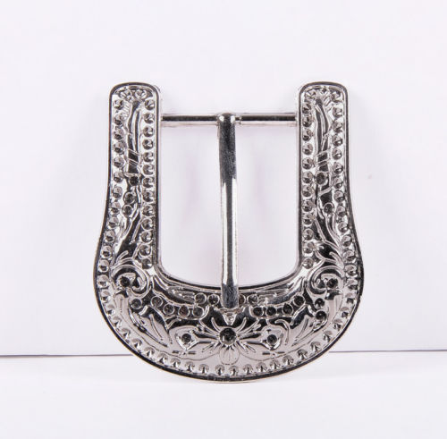 MEN'S WESTERN COWBOY SILVER FLORAL ENGRAVED BELT BUCKLE FITS 30MM LEATHER STRAP