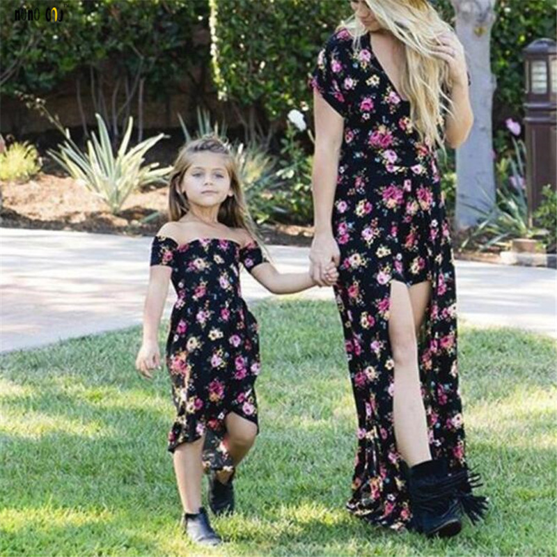 Summer time Mother and Women Gown Household Matching Outfits Classic Floral Printed Mom Daughter Attire Household Garments 2 three four 5 6 Years Aliexpress, Aliexpress.com, On-line purchasing, Automotive, Telephones...