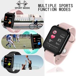 Image 5 - LIGE inteligentna bransoletka kobiety mężczyźni sport tracker fitness inteligentny zegarek wodoodporny z paskiem Monitor pracy serca krokomierz inteligentne bransoletka