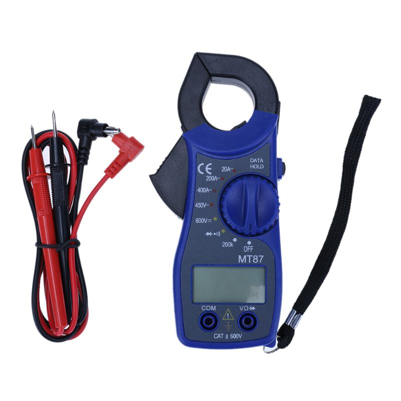 MT87 LCD Digital Clamp Meter Clamp Multimeter DC/AC Voltmeter Current Meter Resistance Capacitance Frequency Tester