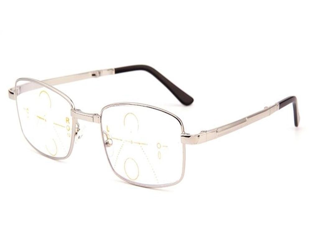 Men's Glasses Apparel Accessories Collection Here Eyelook Light Men Full Rim Foldable Reading Eyeglass Gold Silver Progressive Multi-focal See Near Far Eyewear Jc001