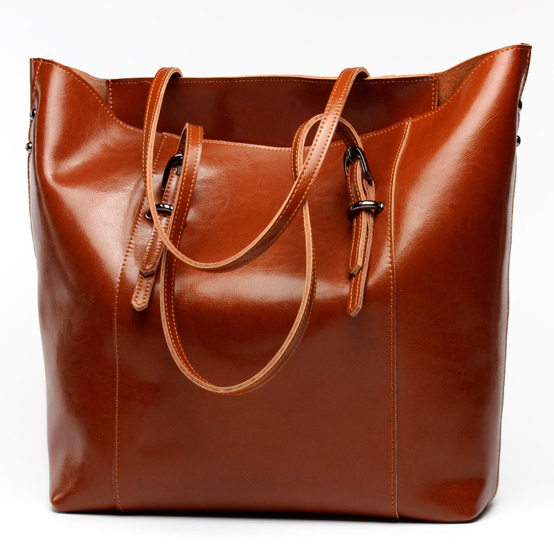 2016 New Fashion Women Bag Genuine Leather Shoulder Handbag Vintage Soft Casual Tote Bags Handbags Brand Designers Totes Sacs