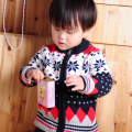 Sale  fashion 100% cotton child snowflake sweater clothing hot-selling open body sweater FREE SHIPPING