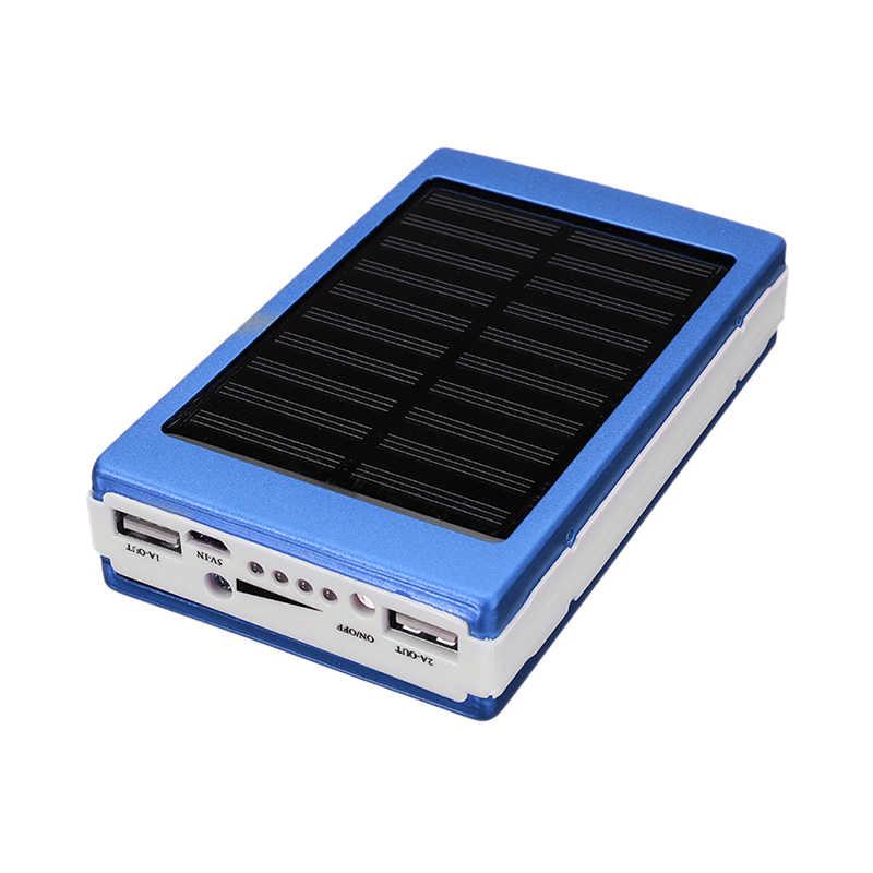 Przenośny DIY 5x18650 Powerbank bilans energii do banku mocy 18650 Powerbank na energię słoneczną Case Box Dual USB zestaw telefon ładowarka latarka