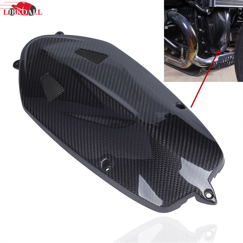 For BMW R NINE T Motor Radial Breast Plate Boxer Breast Engine Case Cover R Nine T 2013 2014 2015 2016 2017 Real Carbon Fiber for bmw r nine t techometer speedometer ring cover r 9t