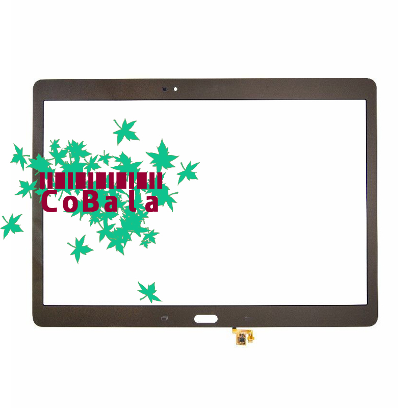 10Pcs Bronze Original For Samsung Galaxy Tab S 10.5 LTE T800 T805 Touch Screen Digitizer LCD Outer Panel Front Glass Sensor original tp760 t touch screen lcd calendar