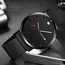 Top Brand Wrist Watch Men 2019 New Luxury Leather Quartz Analog Watch Fashion Sport Waterproof Stainless Clock Relogio Masculino migeer man crystal quartz wrist watch stainless steel analog relogio masculino watch men horloges mannen top brand luxury clock